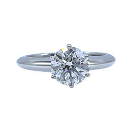Tiffany & Co. Solitaire 950 Platinum with 1.47ctw Diamond Engagement Ring Size 5