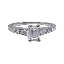 Tiffany & Co. PT950 Platinum with 0.69ctw Diamond Vintage Ring Size 4