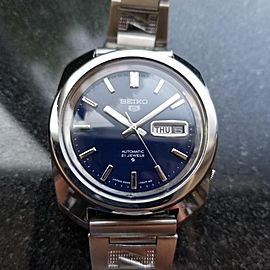 Seiko 5 6119-8220 Vintage 37mm Mens Watch