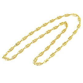 Christian Dior Gold Tone Metal Vintage Necklace