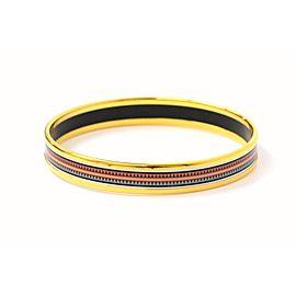 Hermes Cloisonne and Gold Tone Hardware Bangle Bracelet