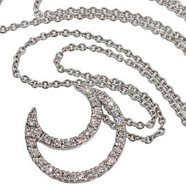 Zoccai 18K White Gold Diamond Pendant