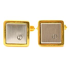 Dunhill Gold and Silver Tone Hardware Cufflinks