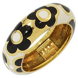 Pasquale Bruni 18K Yellow Gold Enamel Ring Size 4.75