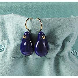 Tiffany & Co. Elsa Peretti 18K Yellow Gold Lapis Teardrop Earrings