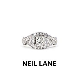 Neil Lane Diamond Engagement Ring Princess 1.38 tcw 14k White Gold