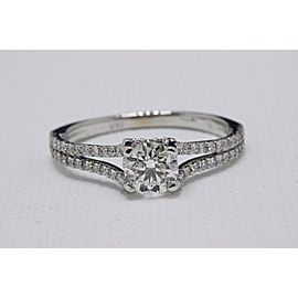 Hearts on Fire Diamond Engagement Ring Round 1.50 ct 14K White Gold