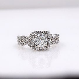 Neil Lane Diamond Engagement Ring 1.46 tcw 14k White Gold