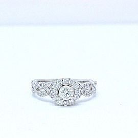 Neil Lane Diamond Engagement Ring Round 1.00 tcw 14k White Gold
