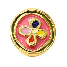 Louis Vuitton Gold Tone Metal Monogram Flower Ring Size 8.0