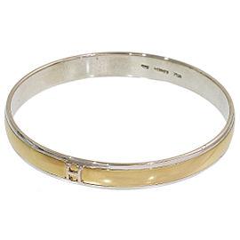 Hermes 18K Yellow Gold, Sterling Silver Bracelet