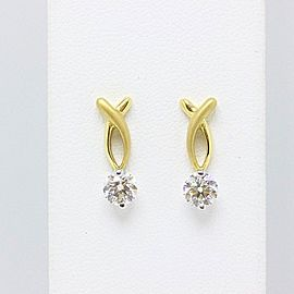 Hearts On Fire Flirtation Sandblast Diamond Earrings 18k Yellow Gold 1.00 tcw