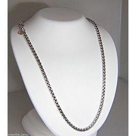 David Yurman Sterling Silver 14K Yellow Gold Hang Tag Box Chain Necklace