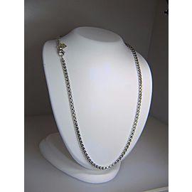 David Yurman Sterling Silver & 14K Yellow Gold Hang Tag Box Chain Necklace