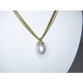 David Yurman 18K Yellow Gold South Sea Cultured Pearl and Diamond Chain Necklace
