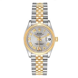 Rolex Datejust Midsize Steel Yellow Gold Diamond Ladies Watch 278273 Box Card