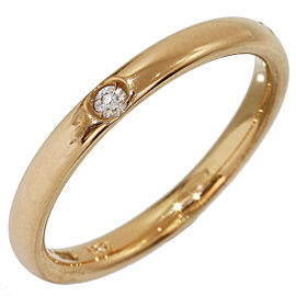 Pomellato 18K Rose Gold Diamond Wedding Ring Size 6.25