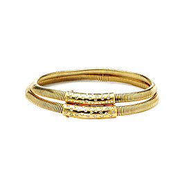 Van Cleef & Arpels 18K Yellow Gold 2.00tcw. Diamond Double Collar Helene Necklace