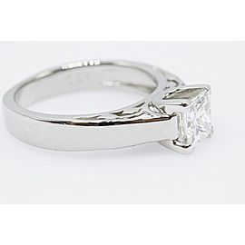 Na Hoku Diamond Engagement Ring Princess Cut 1.01 cts H VS1 18k White Gold