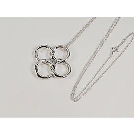 Tiffany & Co. Elsa Peretti Sterling Silver Quadrifoglio Pendant Necklace