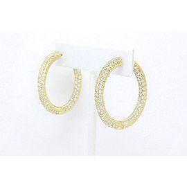 Sonia B Bitton Diamond Hoop Earrings 18K Yellow Gold 4.88 tcw Retail $15,000