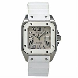 Cartier Santos 100 W20129u2 32mm Womens Watch