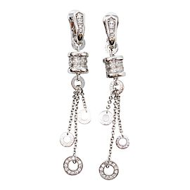 Bvlgari White Gold Diamond Earrings