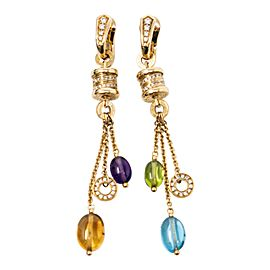 Bvlgari Yellow Gold Diamond Earrings