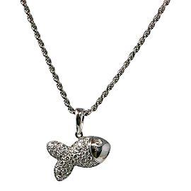 Chopard White Gold Diamond Fish Pendant Necklace