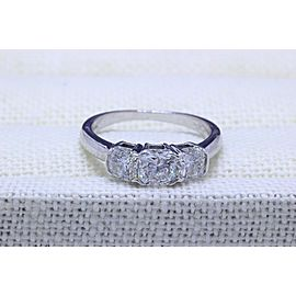 Hearts On Fire 3 Stone Diamond Engagement Ring Dream Cut 1.45 tcw $10,000 Value