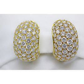Van Cleef & Arpels 18K Yellow Gold Diamond Huggie Earrings