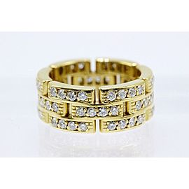 Cartier Maillon Panthere Ring 18K Yellow Gold Diamond Size 5.25