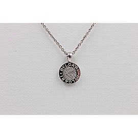 Bulgari 18K White Gold Diamond Pendant