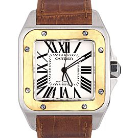 Cartier Santos 100 W20072X7 38mm Mens Watch