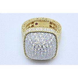 Roberto Coin 18K Yellow Gold Diamond Ring Size 6.5