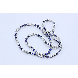 Tiffany & Co. Platinum Diamond, Sapphire Necklace