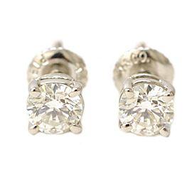 Tiffany & Co. 950 Platinum 0.90ctw Diamond Stud Earrings