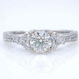 Neil Lane Diamond Engagement Ring Round 1 1/3 tcw in 14k White Gold