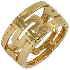 Bulgari 18K Yellow Gold Ring Size 7.25