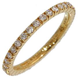 Bulgari 18K Yellow Gold Diamond Ring Size 3.75