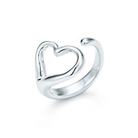 Tiffany & Co. Elsa Peretti Sterling Silver Open Heart Ring Size 6.5