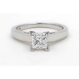 Leo Diamond Engagement Ring Princess 1.01 ct D VS1 14k White Gold