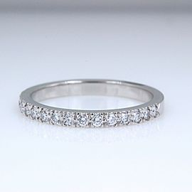 Tiffany & Co. Platinum Diamond Wedding Ring Size 6