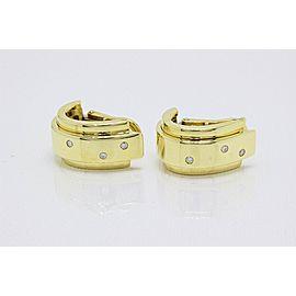 Piaget 18K Yellow Gold Diamond Earrings