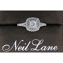 Neil Lane 14K White Gold Diamond Engagement Ring Size 6.5