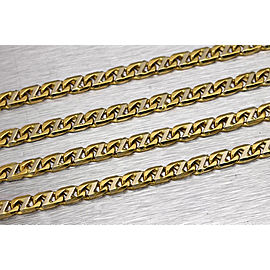 18K Yellow Gold Mariner Fancy Link Chain Necklace
