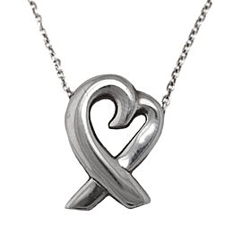 """Tiffany & Co. Sterling Paloma Picasso Loving Heart 16"""" Necklace"""