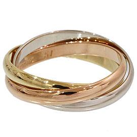 Cartier Trinity de Cartier 18k 3-Gold Ring Size 6