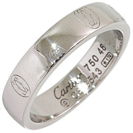 Cartier 18K White Gold Happy Birthday Wedding Ring Size 4.75