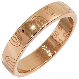 Cartier 18K Rose Gold Happy Birthday Wedding Ring Size 5.5